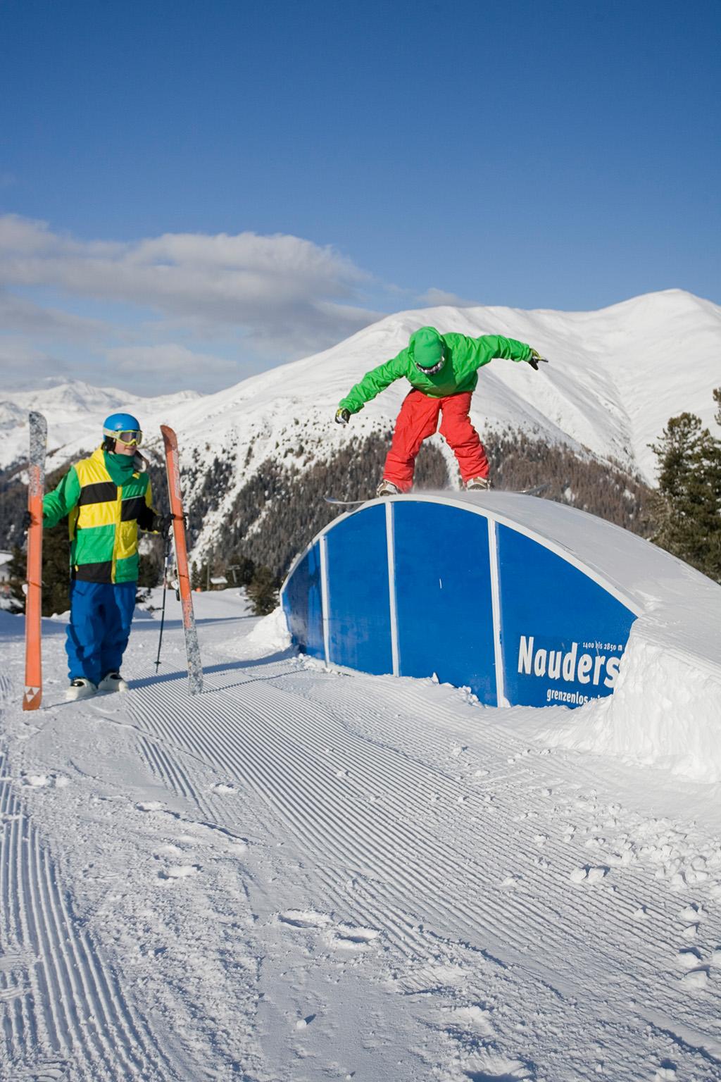 Funpark Nauders im Skigebiet Nauders