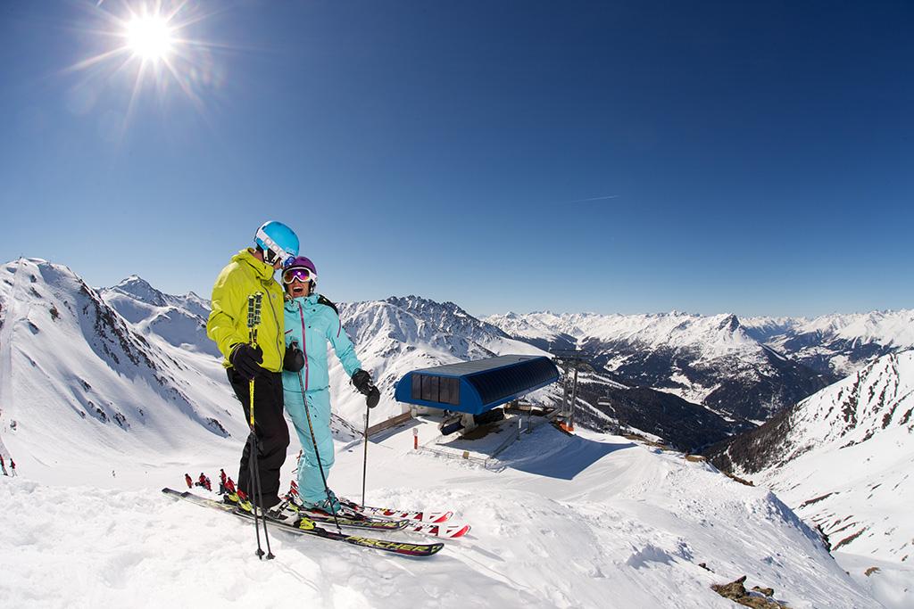 Das Nauders Skigebiet am Reschenpass